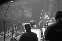 Ricky Lionardi Big Band accompanying Barry Likumahuwa Project at Java Jazz Festival 2012