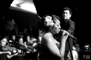 Ricky Lionardi Jazz Orchestra accompanying Dira Sugandi & Glorify The Lord Ensemble at Java Jazz Festival 2012