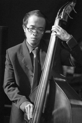 Indra Perkasa for Ricky Lionardi Jazz Orchestra accompanying Dira Sugandi & Glorify The Lord Ensemble at Java Jazz Festival 2012