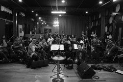 The rehearsal of Ricky Lionardi Jazz Orchestra accompanying Dira Sugandi & Glorify The Lord Ensemble for Java Jazz Festival 2012 (photo by Marthin Fort)